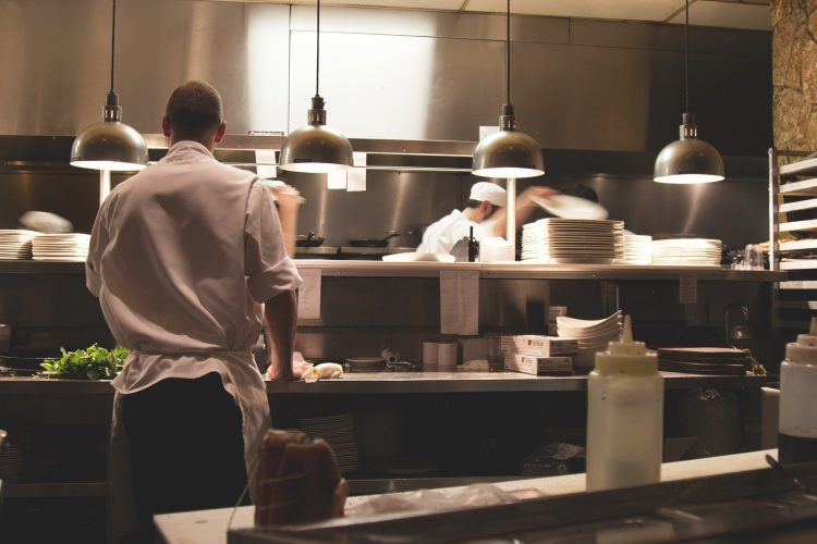 kitchen in the Reastaurant. Business